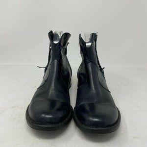 Born Women's Black Leather Booties- 10.5